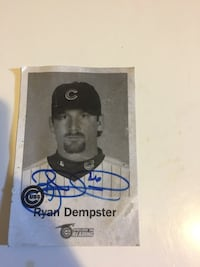 Personally  Autographed Ryan dempster card Chicago, 60623