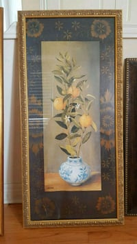 white and yellow petaled flowers painting Brampton, L6R 3M6