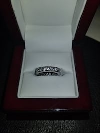 Brand New Sterling Silver CZ Band Burnaby
