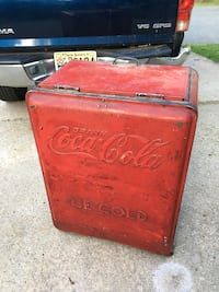 Vintage Coca Cola cooler Sign adverti New Egypt, 08533