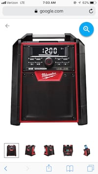 Milwaukee M18 Jobsite Radio and Battery Charger, With M18 Battery, EXCELLENT CONDITION Deer Park, 77536