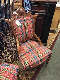 Red Plaid (His) Chair