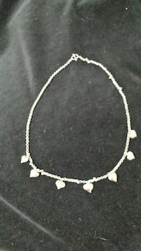 silver-plated necklace with pendants