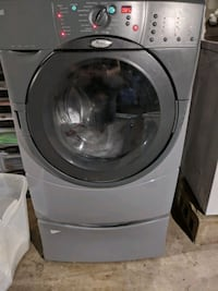 Whirlpool duet front loader washer and pedestal Medford, 11763