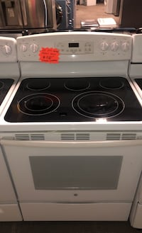 GE five burners electric stove