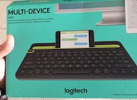 Brand new keyboard. logitech. Works for apple and android. Have no use for it.   Opened but never used.  Retail 50 plus tax Miami, 33179