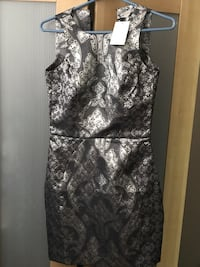 H&M silver metallic dress size 2 (New) Reston, 20190