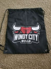Windy city bulls drawstring bag