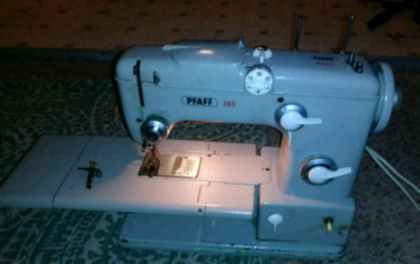 gray PFAFF sewing machine