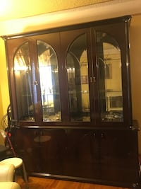 Brown wooden framed glass display cabinet West Hollywood, 90046