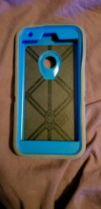 blue and gray iPhone case
