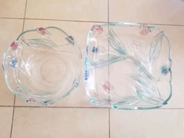 Walther Glass serving bowl & tray