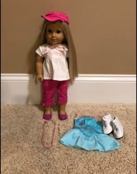 American Girl Doll with Long Blonde Hair and Brown Eyes with Outfits and Accessories  Walnut Cove, 27052