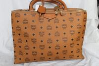 brown monogrammed MCM leather tote bag Washington, 20011