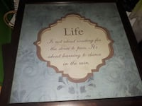 Picture frame with Phrase