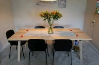 İkea dinner table with 6 chairs like new  Germantown, 20876