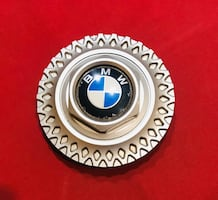 BMW alloy rim center cap.