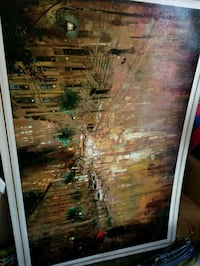brown wooden framed painting of house Atlanta, 30310
