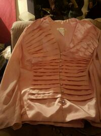 Nice pink  dress top with see threw sleeves  Edmonton, T6E 3K5