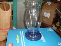 Clear glass Candle holder table pic Norwood, 02062
