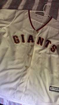 White majestic san francisco giants jersey shirt Hollister, 95023