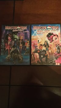 Two monster high DVDs