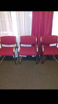 three red-and-gray armchairs Los Angeles, 90026