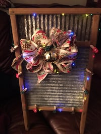 Vintage Washboard decorated with light ups clothes pins and decorated bow Rockville Centre, 11570