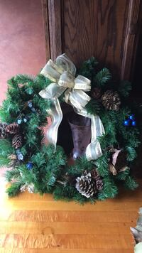 green and white Christmas wreath Bayport, 11705
