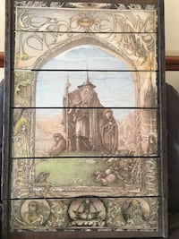 LORD OF THE RINGS WOOD WALL ART $130(OR OBO )