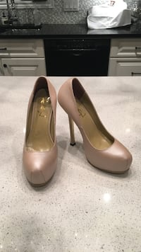 Ysl style nude leather platform tribute pumps sz.37 Laval, H7K