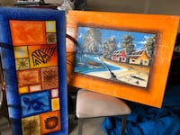 Set of 2 Island Themed Paintings on Canvas Orangeville, L9W