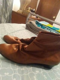 9 west leather boots never worn size 9