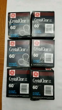 GE Crystal Clear 60 Watt Light Bulbs