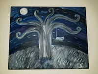 Day - night oil painting