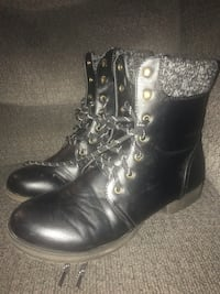 Leather combat boots size 8.5 Redding, 96001