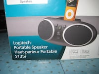 black and white Logitech portable speaker box Winnipeg