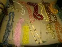 three assorted color beaded necklaces Lumberton, 08048
