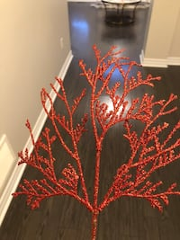 5 glittery sprigs for Christmas tree (set of 5) Whitby, L1M 2M7