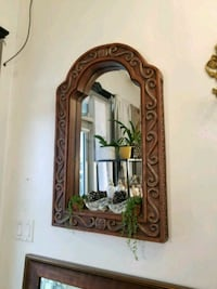 Large Mirror with Carving Detail Frame