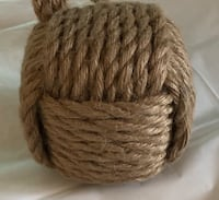 Decorative Brown Rope Ball Home Accent Riverton, 84065
