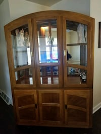 brown wooden frame glass display cabinet Fort Washington, 20744