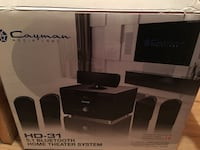 black Dayman 5.1 Bluetooth Home Theater System box Whitby, L1R 3N1