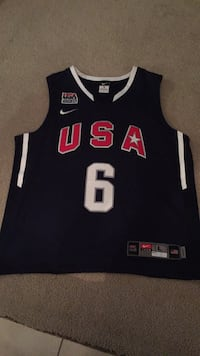 Lebron James Team USA Basketball Jersey  North Vancouver, V7P