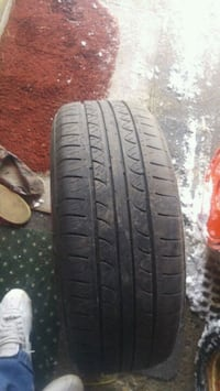 black car tire with tire Mississauga, L5A 1T3