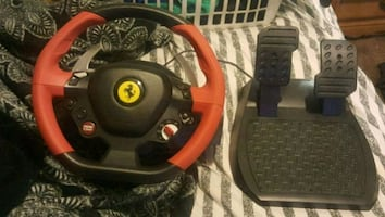 Ferrari xbox1 steering wheel with pedals