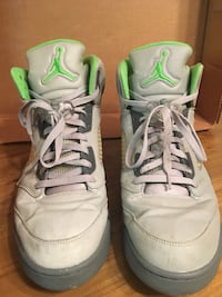 pair of white-and-green Nike sneakers Durham, 27703