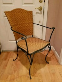 2 wrought iron, bamboo seat chairs Rockville, 20850