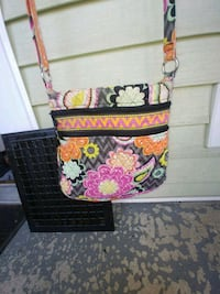 black and yellow floral leather crossbody bag Coshocton, 43812