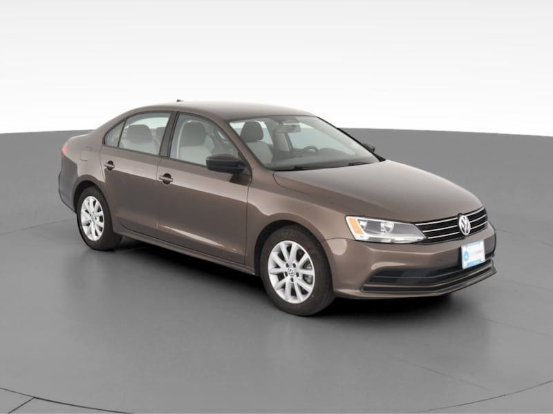 2015 VW Volkswagen Jetta sedan 1.8T SE Sedan 4D Brown  14